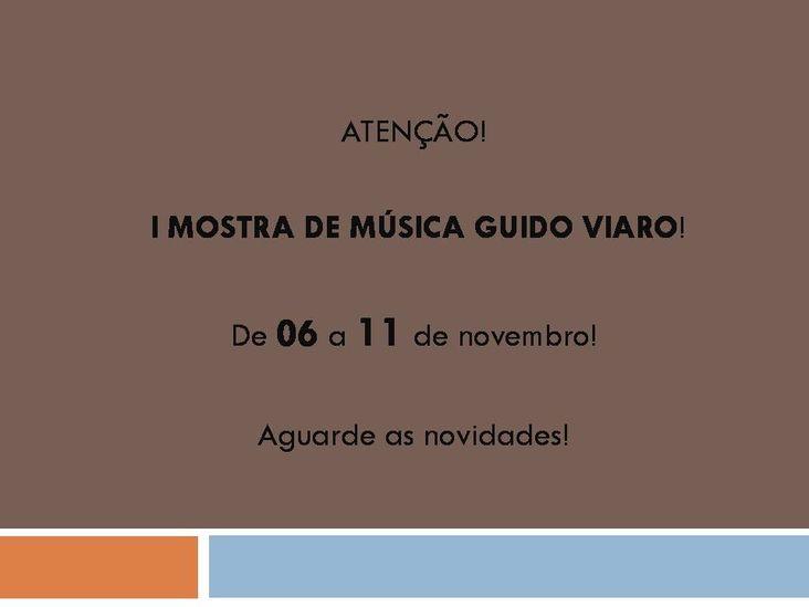 Mostra Música Guido Viaro