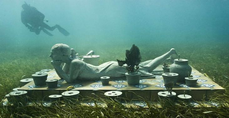 imagem de um museu subaquatico