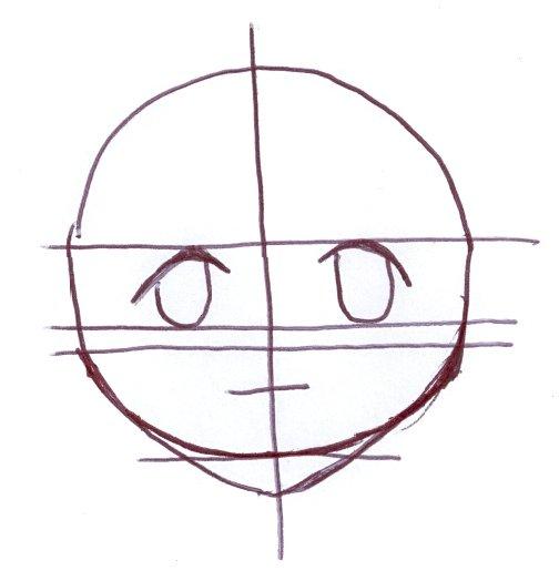 Ilustração de desenho do rosto masculino em Mangá