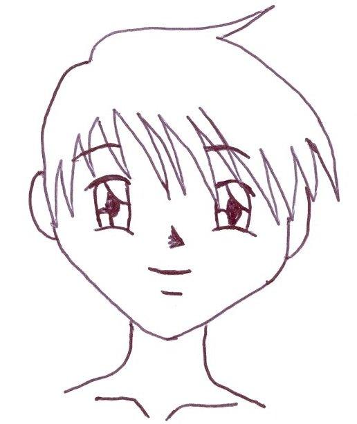 Desenhar mang� finalizando o rosto