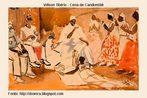 Wilson Tibério nasceu no Rio Grande do Sul e viveu durante longo período em Paris. O distanciamento do país, segundo Emanoel Araujo, o teria levado a pintar repetidamente motivos afrobrasileiros. O artista esteve no Senegal, de onde foi expulso por se envolver num movimento revolucionário. Faleceu na França.<br/><br/> Palavras-chave: pintores negros, arte brasileira, Wilson Tibério.