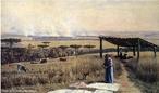 Obra do pintor Alfredo Andersen mostrando uma queimada no Paraná. <br/> Palavras-chave: Alfredo Andersen, queimada, pintura paranaense