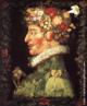 A obra de Giuseppe Arcimboldo faz parte da série  &lsaquo;As Quatro Estações&rsaquo; - intitulada &lsaquo; A Primavera&rsaquo;, do artista italiano do século XVI, Giuseppe Arcimboldo, é composta basicamente por folhas e flores. <br/> Palavras-chave: As Quatro Estações, A Pimavera, pintura, Arcimboldo.