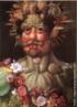 A obra de Giuseppe Arcimboldo é um retrato alegórico do monarca Rudolfo II como o deus romano das metamorfoses da vida e da natureza -Vertumnus. A face de Rudolfo II é feita com flores e frutos, simbolizando o equilíbrio perfeito entre a natureza e a harmonia que o seu reinado representava. <br/> Palavras-chave: Vertumnus, pintura, Arcimboldo, Rudolfo II
