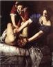 Artemisia Gentileschi nasceu em Roma, em 1593. Neste quadro, tema recorrente na obra da pintora, o general assírio Holofernes é decapitado por Judite que, com esse ato, libertou o seu povo (judeu) do jugo dos pagãos. <br/> Palavras-chave: Artemisia Gentileschi, Barroco, pintura