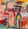 Jean Michael Basquiat - 1982 Conhecido como um artista neoexpressionista, Basquiat frequentemente utilizava elementos do grafite em suas obras. <br/> Palavras-chave: Basquiat, grafite, pichação, neoexpressionismo
