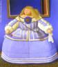 O muralista, escultor e pintor Fernando Botero, nasceu no dia 19 de abril de 1932, em Medellin na Colômbia. Considerado o artista vivo originário da América Latina mais conhecido, atualmente no mundo. Botero é um dos poucos artistas, que conseguiu expor suas obras em várias das avenidas e praças mais famosas de vários países. Suas obras se destacam, sobretudo, por figuras rotundas, o que pode sugerir a estaticidade da humanidade. Há de se perceber uma crítica social, especialmente no que diz respeito à ganância do ser humano. O quadro &quot;Depois de Velázquez&quot;, pintado em 2005, é uma releitura da obra &quot;As meninas&quot;, pintado em 1656, por Diego Velázquez. Botero possui várias versões deste mesmo quadro. <br/> Palavras-chave: Fernando Botero, Medellin, Colômbia, América Latina, formas volumosas, As meninas, Diego Velázquez, releitura, Depois de Velázquez.