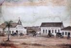 Obra do artista Hugo Calgan representando paisagem de Curitiba, de 1881. <br/> Palavras-chave: Hugo Calgan, pintura paranaense