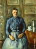 Paul Cézanne(1839-1906), Aix-en-Provence – França. Pintor francês, um dos maiores do pós-impressionistas, cujas obras e idéias foram influentes no desenvolvimento estético de muitos artistas do século 20 e nos movimentos de arte, especialmente o cubismo. A arte de Cézanne, incompreendido e desacreditado pelo público durante a maior parte de sua vida, cresceu a partir do impressionismo e, eventualmente, desafiou todos os valores convencionais da pintura no século 19 através de sua insistência na expressão pessoal e à integridade da própria pintura. Ele tem sido chamado o pai da pintura moderna. O retrato desta mulher revela a impessoalidade com que Cézanne trabalhava seus quadros. Para ele, as formas de uma maçã, árvore ou de uma cabeça possuem uma estrutura através da qual manifestam sua existência. Desde o momento em que se distanciou do Impressionismo, ele adotou um processo de profunda meditação perante a natureza das coisas, denominado análise construtiva. Cézanne resgatou o desenho e a composição, desvalorizados pelos impressionistas. A forma passou a ser construída pela cor, combinando uma área de cor com as áreas contíguas de outras cores, como o vestido azul da mulher desta obra, modelado pelas relações de tons. <br/> Palavras-chave: Paul Cézanne, pintura, Mulher com cafeteira