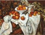Paul Cézanne(1839-1906), Aix-en-Provence – França. Pintor francês, um dos maiores do pós-impressionistas, cujas obras e idéias foram influentes no desenvolvimento estético de muitos artistas do século 20 e nos movimentos de arte, especialmente o cubismo. A arte de Cézanne, incompreendido e desacreditado pelo público durante a maior parte de sua vida, cresceu a partir do impressionismo e, eventualmente, desafiou todos os valores convencionais da pintura no século 19 através de sua insistência na expressão pessoal e à integridade da própria pintura. Ele tem sido chamado o pai da pintura moderna. A obra é óleo sobre tela com dimensões de 74 x 93 cm. Para criar suas naturezas-mortas, Cézanne estudava atentamente a disposição dos objetos que iria pintar. Apesar desse cuidado, a ordenação dos elementos resulta despretensiosa, como neste quadro Natureza-morta com maçãs e laranjas. O artista não pretendeu realizar uma representação naturalista, mas propositadamente expressou-se pelo artificialismo da própria pintura. <br/> Palavras-chave: Paul Cézanne, pintura, Natureza-morta com maçãs e laranjas