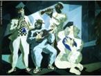 Candido Torquato Portinari (Brodowski, 29 de dezembro de 1903 — Rio de Janeiro, 6 de fevereiro de 1962). Portinari pintou quase cinco mil obras, de pequenos esboços a gigantescos murais. Foi o pintor brasileiro a alcançar maior projeção internacional. O quadro &quot;Chorinho&quot; foi pintado em 1942. <br/> Palavras-chave: Cândido Portinari, Chorinho, artista brasileiro