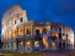 É um Anfiteatro, construído originalmente para comportar perto de 50.000 pessoas com 48 metros de altura. Era usado para variados espetáculos e levou aproximadamente 10 anos para ser erigido. É considerado o símbolo do Império Romano. <br/> Palavras-chave: Roma Antiga, coliseu, arquitetura, Anfiteatro. Itália