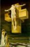 Nesta versão, bem-pessoal da crucifixação de Cristo, Dalí une a pintura acadêmica à pintura moderna, num grande impacto visual. <br/> Palavras-chave: Salvador Dalí, Surrealismo, crucificação, arte moderna
