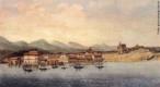 Jean-Baptiste Debret - Quadro representado uma paisagem de Guaratuba, de 1827. <br/> Palavras-chave: Debret, pintura paranaense, Guaratuba