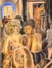 Emiliano Augusto Cavalcanti de Albuquerque e Melo, mais conhecido como Di cavalcanti, foi pintor, caricaturista e ilustrador brasileiro. Nasceu na cidade do Rio de Janeiro, em 6 de setembro de 1897 e faleceu em 26 de outubro de 1976, na mesma cidade. Idealizou e participou da Semana de Arte Moderna de 1922, expondo 11 obras de arte e elaborando a capa do catálogo. Seu estilo artístico é marcado pela influência do expressionismo, cubismo e dos muralistas mexicanos (Diego Rivera, por exemplo). Abordou temas tipicamente brasileiros como, por exemplo, o samba. Em suas obras são comuns também, os temas sociais do Brasil (festas populares, operários, as favelas, protestos sociais, etc). O MAC possui em seu acervo, além de pinturas, uma série de mais de 500 desenhos, que cobrem o período que vai da década de 20 até o ano de 1952: grafites, aquarelas, guaches e nanquins, generosamente doados pelo artista. O quadro &quot;Mangue&quot; foi pintado em 1929. <br/> Palavras-chave: Di cavalcanti, Arte Moderna, pintor brasileiro, Semana de Arte Moderna, expressionismo, cubismo, temas sociais, MAC, Mangue