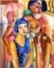 Emiliano Augusto Cavalcanti de Albuquerque e Melo, mais conhecido como Di Cavalcanti, foi pintor, caricaturista e ilustrador brasileiro. Nasceu na cidade do Rio de Janeiro, em 6 de setembro de 1897 e faleceu em 26 de outubro de 1976, na mesma cidade. Idealizou e participou da Semana de Arte Moderna de 1922, expondo 11 obras de arte e elaborando a capa do catálogo. Seu estilo artístico é marcado pela influência do expressionismo, cubismo e dos muralistas mexicanos (Diego Rivera, por exemplo). Abordou temas tipicamente brasileiros como, por exemplo, o samba. Em suas obras são comuns os temas sociais do Brasil (festas populares, operários, as favelas, protestos sociais, etc). O MAC possui em seu acervo, além de pinturas, uma série de mais de 500 desenhos, que cobrem o período que vai da década de 20 até o ano de 1952: grafites, aquarelas, guaches e nanquins, generosamente doados pelo artista. <br/> Palavras-chave: Di cavalcanti, Arte Moderna, pintor brasileiro, Semana de Arte Moderna, expressionismo, cubismo, temas sociais, MASP, Cinco Moças de Guaratinguetá