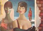 Emiliano Augusto Cavalcanti de Albuquerque e Melo, mais conhecido como Di Cavalcanti, foi pintor, caricaturista e ilustrador brasileiro. Nasceu na cidade do Rio de Janeiro, em 6 de setembro de 1897 e faleceu em 26 de outubro de 1976, na mesma cidade. Idealizou e participou da Semana de Arte Moderna de 1922, expondo 11 obras de arte e elaborando a capa do catálogo. Seu estilo artístico é marcado pela influência do expressionismo, cubismo e dos muralistas mexicanos (Diego Rivera, por exemplo). Abordou temas tipicamente brasileiros como, por exemplo, o samba. Em suas obras são comuns também, os temas sociais do Brasil (festas populares, operários, as favelas, protestos sociais, etc). O MAC possui em seu acervo, além de pinturas, uma série de mais de 500 desenhos, que cobrem o período que vai da década de 20 até o ano de 1952: grafites, aquarelas, guaches e nanquins, generosamente doados pelo artista. O quadro &quot;Mulata e pombas&quot; foi pintado em 1966. <br/> Palavras-chave: Di cavalcanti, Arte Moderna, pintor brasileiro, Semana de Arte Moderna, expressionismo, cubismo, temas sociais, MAC, Mulatas e pombas