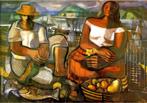 Emiliano Augusto Cavalcanti de Albuquerque e Melo, mais conhecido como Di Cavalcanti, foi pintor, caricaturista e ilustrador brasileiro. Nasceu na cidade do Rio de Janeiro, em 6 de setembro de 1897 e faleceu em 26 de outubro de 1976, na mesma cidade. Idealizou e participou da Semana de Arte Moderna de 1922, expondo 11 obras de arte e elaborando a capa do catálogo. Seu estilo artístico é marcado pela influência do expressionismo, cubismo e dos muralistas mexicanos (Diego Rivera, por exemplo). Abordou temas tipicamente brasileiros como, por exemplo, o samba. Em suas obras são comuns também, os temas sociais do Brasil (festas populares, operários, as favelas, protestos sociais, etc). O MAC possui em seu acervo, além de pinturas, uma série de mais de 500 desenhos, que cobrem o período que vai da década de 20 até o ano de 1952: grafites, aquarelas, guaches e nanquins, generosamente doados pelo artista. <br/> Palavras-chave: Di cavalcanti, Arte Moderna, pintor brasileiro, Semana de Arte Moderna, expressionismo, cubismo, temas sociais, MAC, Pescadores