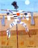 Candido Torquato Portinari (Brodowski, 29 de dezembro de 1903 — Rio de Janeiro, 6 de fevereiro de 1962). Portinari pintou quase cinco mil obras, de pequenos esboços a gigantescos murais. Foi o pintor brasileiro a alcançar maior projeção internacional. O quadro &ldquo;Espantalho&rdquo;, é também título de outros quadros de Portinari. Este foi pintado com tinta a óleo sobre madeira, medindo 41 centímetros de altura por 33 centímetros de largura. <br/><br/> Palavras-chave: cândido portinari, espantalho, artista brasileiro