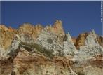 As falésias coloridas, típicas do nordeste brasileiro, possuem areia de diversas cores utilizadas no artesanato local. <br/><br/> Palavras-chave: falésia, artesanato, areia.
