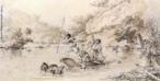 Keller-Leuzinger, Franz (1835 - 1890). Nasceu e morreu na Alemanha. Foi fotógrafo, desenhista pintor e engenheiro. Chegou ao Brasil em 1856 com o pai e um irmão para construir estradas de ferro na Amazônia. Durante sua estadia no país, realizou diversos desenhos e xilogravuras, como essa caçada a antas no Rio Ivaí, de 1865. <br/><br/> Palavras-chave: franz keller, pintura paranaense