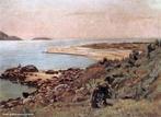 Obra do pintor Alfredo Andersen mostrando uma paisagem de Guaratuba, em 1925. <br/><br/> Palavras-chave: alfredo andersen, guaratuba, pintura paranaense