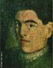 Autorretrato do Artista Guido Viaro. A obra é de 1914 e a técnica utilizada é óleo sobre tela com dimensões de 32 x 21,4 cm. <br/><br/> Palavras-chave: Guido Viaro, Auto-retrato, pintura