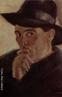 Autorretrato do Artista Guido Viaro. A obra é de 1934 e a técnica utilizada é óleo sobre tela com dimensões de 44 x 39 cm.