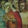 Pintura do Artista Guido Viaro. A obra é de 1962 e a técnica utilizada é óleo sobre papel, com dimensões de 63,5 x 84 cm. <br/><br/> Palavras-chave: guido viaro, os fariseus, pintura