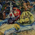 Pintura do Artista Guido Viaro. A obra é de 1954 e a técnica utilizada é óleo sobre tela, com dimensões de 61,5 x 79 cm. <br/><br/> Palavras-chave: guido viaro, natureza-morta, pintura