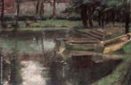Descrição: Obra de Guido Viaro representando o Passeio Público de Curitiba, em 1936. <br/> Palavras-chave: Guido Viaro, pintura paranaense, Passeio Público