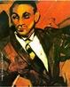 Pintura de Anita Malfatti retratando um imigrante italiano. T�cnica:�leo sobre tela, dimens�es: 61 x 51 cm.