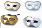 Quatro modelos de máscaras de carnaval. <br/> Palavras-chave: máscara, carnaval