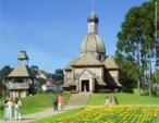 O memorial ucraniano está localizado dentro do parque Tingui, em Curitiba. <br/> Palavras-chave: ucraniano, folclore, Curitiba, memorial, Tingui