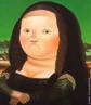 O muralista, escultor e pintor Fernando Botero, nasceu no dia 19 de abril de 1932, em Medellin na Colômbia. Considerado o artista vivo originário da América Latina mais conhecido, atualmente no mundo. Botero é um dos poucos artistas, que conseguiu expor suas obras em várias das avenidas e praças mais famosas de vários países. Suas obras se destacam, sobretudo, por figuras rotundas, o que pode sugerir a estaticidade da humanidade. Há de se perceber uma crítica social, especialmente no que diz respeito à ganância do ser humano. O quadro &quot;Mona Lisa&quot;, pintado por Fernando Botero em 1977, é uma releitura da obra &quot;Mona Lisa&quot; de Leonardo da Vinci. <br/> Palavras-chave: Fernando Botero, Medellin, Colômbia, América Latina, formas volumosas, Mona Lisa, Leonardo da Vinci, releitura
