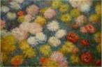 Obra do artista francês Claude Monet considerado um dos percurssores do impressionismo. No final do século XIX, muitas variedades de crisântemos foram importados para França a partir do Japão e China encantando Monet. Entre 1878 e 1882, Claude Monet pintou vários buquês de variedades raras porém somente em 1897 e 1898 que os crisântemos se tornam uma inspiração para uma série de pinturas que o levam para perto de abstração geométrica.