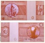 Obra de uma série de trabalhos inspirados em papel moeda. Cildo Meireles - Zero Cruzeiro, litografia offset sobre papel, 7 X 15,5 cm.