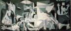Guernica é um painel pintado por Pablo Picasso em 1937 por ocasião da Exposição Internacional de Paris. Foi exposto no pavilhão da República Espanhola. Medindo 350 por 782 cm, esta tela pintada a óleo representa o bombardeio sofrido pela cidade espanhola de Guernica em 26 de abril de 1937 por aviões alemães. Atualmente está no Centro Nacional de Arte Rainha Sofia, em Madrid.