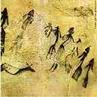Pintura rupestre de Lérida, Espanha, uma das mais antigas encontradas, cerca de 8300 mil anos a.C., que representa uma dança num ritual de fertilidade.