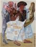 Pintura do artista brasileiro Cândido Portinari com dimensões de aproximadamente 34,2 x 26cm. Portinari pintou quase cinco mil obras, de pequenos esboços a gigantescos murais. Foi o pintor brasileiro a alcançar maior projeção internacional.