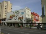 Napoleão Potyguara Lazzarotto (Curitiba, 29 de março de 1924 — Curitiba, 7 de maio de 1998). Filho de italianos começou a se interessar por desenho ainda criança. Seu pai era ferroviário e sua mãe mantinha um restaurante na cidade, o Vagão do Armistício, muito frequentado por intelectuais paranaenses. Segundo certos críticos, os murais são o trabalho mais representativo de sua obra. Na execução desses trabalhos, Poty empregava materiais diversos, como madeira, vidro (vitrais), cerâmica, azulejo e concreto aparente, esse último um de seus materiais prediletos.