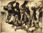 Gravura do artista paranaense Poty Lazzarotto. Gravura em metal com dimensões de 18,8 x 24,1 cm [mancha] / 31,8 x 34,3 cm [papel].