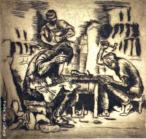 Gravura do artista paranaense Poty Lazzarotto. A técnica utilizada é ponta-seca (gravura em metal) com dimensões de 22 x 23,2 cm [mancha] / 36,5 x 27,8 cm [papel].
