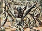 Candido Torquato Portinari (Brodowski, 29 de dezembro de 1903 — Rio de Janeiro, 6 de fevereiro de 1962). Portinari pintou quase cinco mil obras, de pequenos esboços a gigantescos murais. Foi o pintor brasileiro a alcançar maior projeção internacional. O quadro Enterro na rede de 1944, faz parte da série Retirantes, de cunho social, com influências expressionistas.