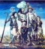 Candido Torquato Portinari (Brodowski, 29 de dezembro de 1903 — Rio de Janeiro, 6 de fevereiro de 1962). Portinari pintou quase cinco mil obras, de pequenos esboços a gigantescos murais. Foi o pintor brasileiro a alcançar maior projeção internacional. O quadro Retirantes de 1944, é uma das mais emblemáticas obras de arte brasileira, de cunho social, com influências expressionistas.