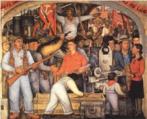Diego Rivera (1886-1957): Importante pintor mexicano, criou o muralismo mexicano ao lado de Orozco e Siqueiros. Considerava a pintura em cavalete muito burguesa, o que o levou a dedicar grande parte de sua obra aos murais. Em 1929, casou-se com Frida Kahlo e manteve com ela um relacionamento conturbado.