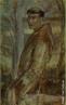 Pintura do Artista Guido Viaro retratando São Francisco de Assis. A obra é de 1962 e a técnica utilizada é óleo sobre papel, com dimensões de 82,3 x 49,5 cm.