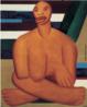 """Tarsila do Amaral (1886-1973) foi uma das mais importantes artistas do Brasil. Após passar dois anos em Paris, retorna a São Paulo em 1922, para integrar o """"Grupo dos Cinco"""", que defende as ideias da Semana de Arte Moderna e toma a frente do movimento modernista do país. Esta tela foi pintada por Tarsila em Paris, enquanto tomava aulas de Ferdinand Legér, que a elogiou bastante. O quadro possui elementos cubistas e a negra aqui representada fez parte da infância de Tarsila."""