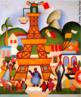 """Tarsila do Amaral (1886-1973) foi uma das mais importantes artistas do Brasil. Após passar dois anos em Paris, retorna a São Paulo em 1922 para integrar o """"Grupo dos Cinco"""", que defende as ideias da Semana de Arte Moderna e toma a frente do Movimento Modernista do país.  Tarsila veio de Paris e passou o carnaval de 1924 no Rio de Janeiro. É curioso ver que ela colocou a famosa Torre Eiffel no meio da favela carioca."""