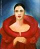 """Tarsila do Amaral (1886-1973) foi uma das mais importantes artistas do Brasil. Após passar dois anos em Paris, retorna a São Paulo em 1922 para integrar o """"Grupo dos Cinco"""", que defende as ideias da Semana de Arte Moderna e toma a frente do Movimento Modernista do país.   Esse autorretrato foi pintado pela artista, em Paris, depois de um jantar em homenagem a Santos Dumont."""